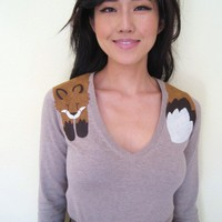 Wrapped Fox Sweater in Sand