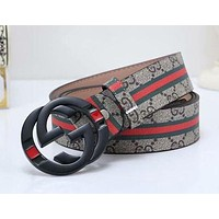 Gucci Woman Men Fashion Buckle Belt Leather Belt-1