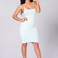 Stella Dress - Blue/White