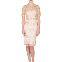 GOLD CORD LACE COCKTAIL DRESS