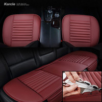 Karcle 1PCS Car Seat Cover Leather&Bamboo Charcoal Breathable Driver Seat Cushion Protector Car-styling Automobiles Accessories