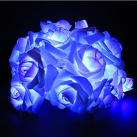 Romantic 2m Flower Rose Shape Home Garden Christmas Wedding Party Decoration Fairy String Light