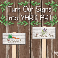 Garden Signs on a Stake, Yard Art, Choose From Any Of Our Signs, Garden Stakes, Garden Art, Label Plants and Herbs, Fun Gift, Made To Order