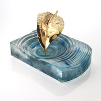 Aquamarine Fallen Leaf Centre Piece & Ashtray - SOLD OUT