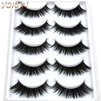 YOKPN Cross Slim Thick False Eyelashes eye Tail Smoked Sexy Stage Makeup False Eyelashes Naturally False Eyelashes Tool Makeup