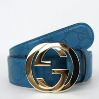 GUCCI Belt w/Interlocking G Buckle