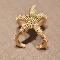 Cute Starfish Ring-Ariel,Adjustable ring, Personalized Stars' Jewelry Gift for Girls, Women Ring  R1