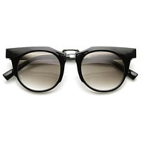 Retro Modern Fashion Flat Top Round Lens Sunglasses 9490