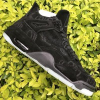 Air Jordan 4 Retro KAWS x Air Jordan 4 Black/Black AJ4 Sneakers