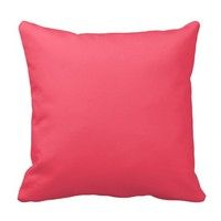 Customizable Bright Coral Pink Throw Pillow