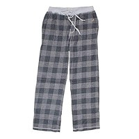 Melange Buffalo Check Flannel Pant in Charcoal by True Grit