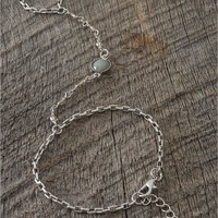 Silver-Color Hand Chain - Lacey Ryan Collection - Gray