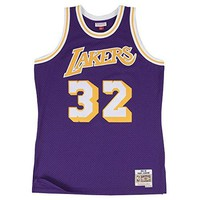 Magic Johnson Los Angeles Lakers Mitchell & Ness NBA Throwback HWC Purple Jersey