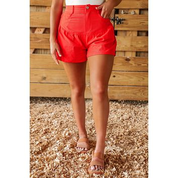 Cue The Sparklers Shorts: Red