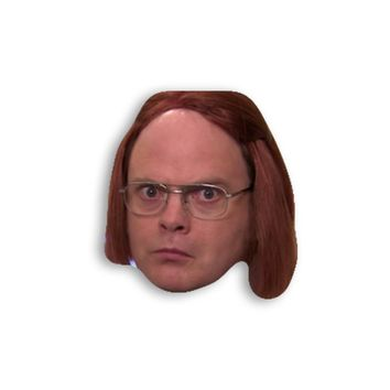 Dwight Schrute as Meredith Magnet - The Office TV Show Magnet - Schrute Farms Dwight Schrute Magnet