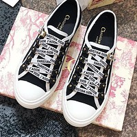 DIOR Fashion Women Leisure Canvas Flat Sport Shoes Sneakers