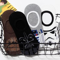Star wars BB8 robot cosplay sock Fashion casual personality calcetines cortos hombre novelty high quality funny happy Calcetines