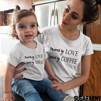 Powered by LOVE Fueled by Coffee & Powered by LOVE Fueled by Milk family set