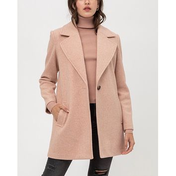 JQ Fleece Single Breasted Coat in More Colors