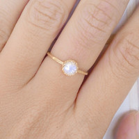 25% off- SALE!! Moonstone ring, gemstone band,gold ring, brodal jewelry,Birthstone ring, june birthstones
