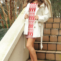 Stay Warm With Me Jacket: Ivory