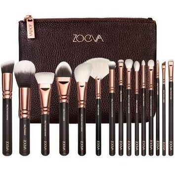 ZOEVA 15 PCS ROSE GOLDEN COMPLETE MAKEUP BRUSH SET Professional Luxury Set [9325741316]