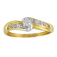 SuperJeweler Diamond Promise Ring with Thick 10K Yellow Gold Band 10ct tw