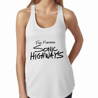 Foo Fighters Sonic Highways Rock Band Logo Cool band ever WHITE Tank Top, Lady Women Fit Tee, Sweater Hoodie Tshirt Tank Top