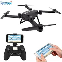 Teeggi X8TW Foldable Drone With WIFI Camera RC Dron Pocket Phone App Control Selfie Drone Quadrocopter VS JJRC H37 Drone