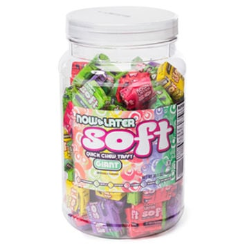 Now & Later Soft Taffy Squares - Assorted: 120-Piece Tub