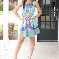 April Showers Dress - Colorful