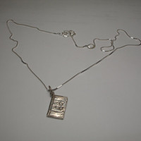 Holy Bible Sterling Silver Necklace