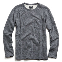 Double Face Jersey Long Sleeve Tee in Charcoal
