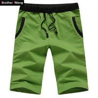 New men's casual fashion solid color shorts summer beach shorts for men code M-4XL Fitness Beach shorts