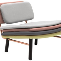 Stack Chair - Grey/Pink/Yellow