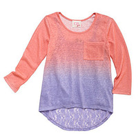GB Girls 7-16 Ombre 2-Fer Top with Lace   Dillards.com