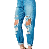 Torn Up Boyfriend Jeans