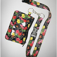 Floral Lanyard With Id - Spencer's
