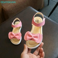 Girls Princess sandals New Brand Summer Kids sandal Bowknow Flat Children Shoes for baby Girls beach Sandals EU 21~36