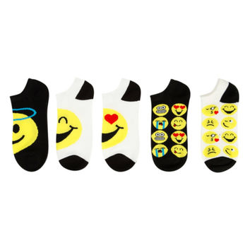 Emoji No-Show Socks 5 Pair