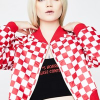 Checkmate Moves Crop Jacket