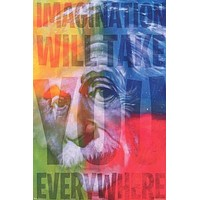 Albert Einstein Imagination Quote Poster 24x36