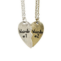 LOVEsick Weirdo Best Friends Necklace Set