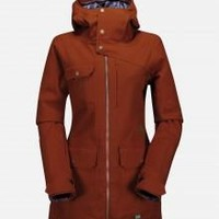 Volcom Womens Gauge Insulated Jacket 14-15 (Burnt Sienna) Snow Snow Jackets Womens Jackets at 7TWENTY Boardshop, Inc