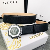 Versace New Fashion Human Head Buckle Women Men Leisure Belt Black
