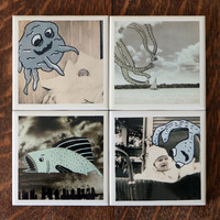 Coaster Set of 4 - The Monsters