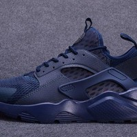 New Arrivel Nike Air Huarache Ultra Breathe Midnight Navy Men's Athletic Running Shoes Trainers