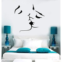 Vinyl Wall Decal Kissing Couple Love Romantic Bedroom Stickers Unique Gift (ig3715)