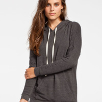 Full Tilt Essential Womens Cozy Hoodie Charcoal  In Sizes