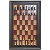 Straight Up Chess - Red Cherry Chessboard with Walnut Scoop Frame
